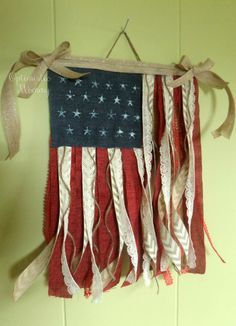 4th of July Crafts - DIY Fabric Flag - Optimistic Mommy