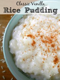 Have you forgotten how wholesome homemade desserts can be? We'll remind you with these easy pudding recipes such as classic rice pudding, custard pudding, tapioca. Stovetop Rice Pudding, Best Rice Pudding Recipe, Easy Pudding Recipes, Creamy Rice Pudding, Pudding Desserts, Rice Recipes, Dessert Recipes, Homemade Rice Pudding, Custard Rice Pudding