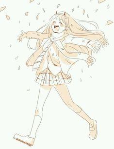 ❤️ zero two Manga Anime, Anime Chibi, Kawaii Anime, Otaku, Yandere Girl, Nisekoi, Waifu Material, Fairy Tail Ships, Zero Two