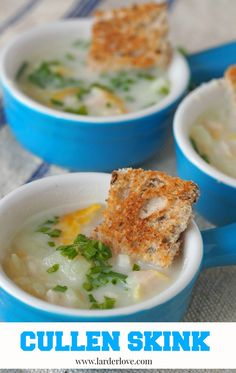 An easy recipe for Cullen Skink which is a delicious and traditional Scottish soup made with smoked fish and potatoes, simple and superb Scottish Dishes, Scottish Recipes, Mini Coffee Cups, Nibbles For Party, Chilled Soup, Fish Soup, Smoked Fish, Larder, World Recipes