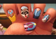 Pocahontas themed nails