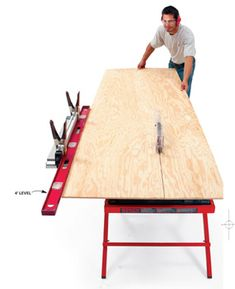 That long level that's lying around makes a surprising fence for table saws, routers and router tables.
