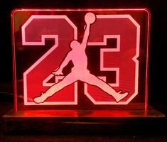 Jordan 23 LED logo Display sign by HeroLights on Etsy