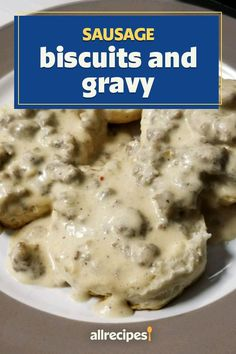 Sausage Biscuits, Biscuits And Gravy, Sausage Gravy, Brunch Recipes, Breakfast Recipes, Really Good Stuff, Brunches, Breakfast Casserole