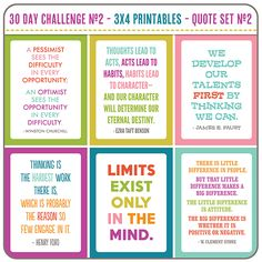 The 30 Day Challenge No.2 - Quote Set #2