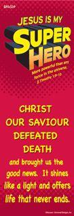 Jesus is My Super Hero Bookmark
