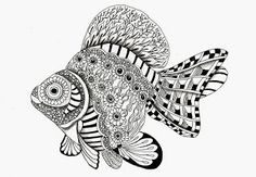 Efie goes Zentangle - fish