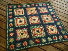 Crochet ~ Granny Square Variation No instructions, but great pictures! Crochet Crafts, Crochet Yarn, Crochet Stitches, Crochet Projects, Crochet Granny Square Afghan, Crochet Squares, Blanket Crochet, Granny Squares, Crochet Cushions