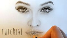 Tutorial | How to shade and draw realistic eyes, nose and lips with graphite pencils | Emmy Kalia