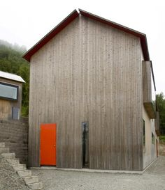 love the swedish barns. the vertical lighter wood.