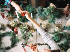 Read More on SMP: http://www.stylemepretty.com/living/2015/12/01/wreath-making-holiday-party/