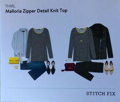 Stitch Fix October 2015 THML Malloria Zipper Detail Knit Top