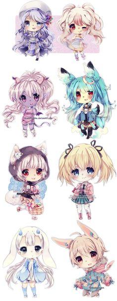 Chibi by LaDollBlanche Kawaii Anime, Art Kawaii, Chibi Kawaii, Loli Kawaii, Cute Anime Chibi, Art Manga, Manga Girl, Anime Manga, Anime Art