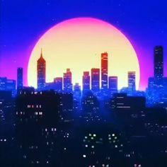 Cyberpunk Aesthetic, City Aesthetic, Retro Aesthetic, Aesthetic Anime, Vaporwave Wallpaper, New Retro Wave, Retro Waves, Aesthetic Backgrounds, Aesthetic Wallpapers