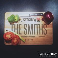 Large Solid Birch Wood Chopping Board - Personalised Chopping Board - Cutting…