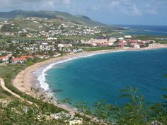 Cockleshell Beach (St Kitts), Saint Kitts & Nevis. Sits on the Narrows, the strait between the two islands