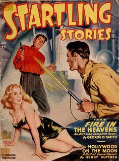 Startling Stories _ 1949 _ Earle Bergey by uk vintage, via Flickr