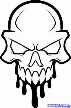 How to Draw a Skull Head Skull Head Tattoo Step by Step Skulls Pop Culture FREE Online Drawing Tutorial Added by Dawn March 1 2013 am Cool Skull Drawings, Simple Skull Drawing, Skull Artwork, Graffiti Drawing, Easy Drawings, Tattoo Drawings, Skull Stencil, Totenkopf Tattoos, Skull Tattoo Design