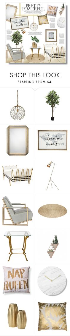 """""""Untitled #974"""" by intellectual-blackness ❤ liked on Polyvore featuring interior, interiors, interior design, home, home decor, interior decorating, Crate and Barrel, Jamie Young, Jonathan Adler and Shany"""