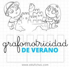 Ejercicios de grafomotricidad para el verano.  http://www.edufichas.com/actividades/grafomotricidad/ejercicios-grafomotricidad-verano/  #verano #grafomotricidad #repasar #lineas #infantil