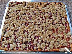 Pflaumenkuchen mit Pudding und Streusel (Rezept mit Bild) | Chefkoch.de