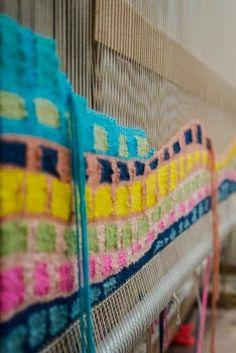 Natalie Miller weaving studio detail