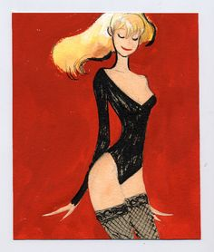 I pin a lot of illustrations of females because I used to paint pinups and the female form is always a challenge to express simply. This is a great example. - Ronnie del Carmen