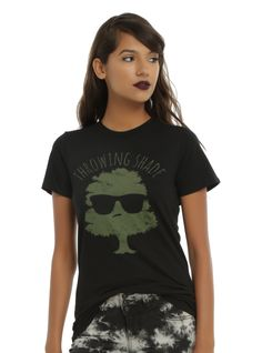"<div>Even this tree doesn't like you. Get ready for it to throw some serious shade. It even put its sunglasses on to get ready. Black fitted tee with an image of a tree wearing sunglasses and text design that reads ""Throwing Shade.""</div><div><ul><li style=""LIST-STYLE-POSITION: outside !important; LIST-STYLE-TYPE: disc !important"">100% cotton</li><li style=""LIST-STYLE-POSITION: outside !important; LIST-STY..."