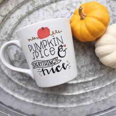 Pumpkin Spice Mug  Pumpkin Spice and by MorningSunshineShop
