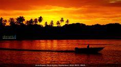 Sunset in Ilha de Boipeba. Bahia state. Brazil.
