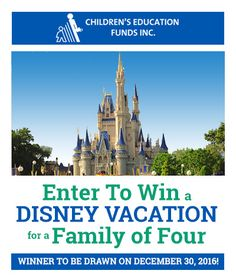 Enter To Win a Disney Vacation for 4