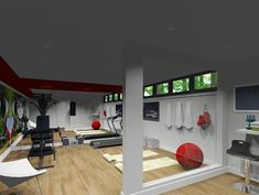 Gym Time - - home gym - toronto - by NathalieTremblay - Atelier Cachet