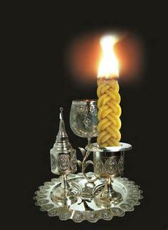 Havdalah (Hebrew: הַבְדָּלָה, meaning 'separation') is a Jewish religious ceremony that marks the symbolic end of Shabbat and Jewish holidays, and ushers in the new week. The ritual involves lighting a special havdalah candle with several wicks, blessing a cup of wine and smelling sweet spices.