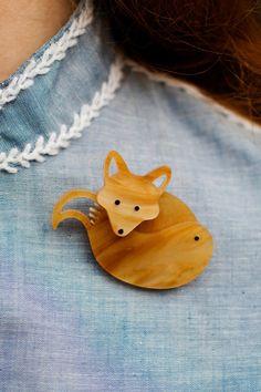 Tatty Devine | Fox Brooch  #tortoiseshell #indie #animals