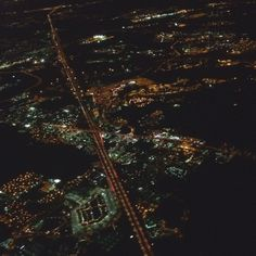 Orlando at night from 25,000 ft