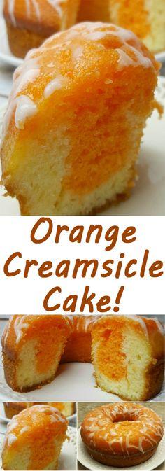 Orange Creamsicle Cake More from my siteOrange Creamsicle Cake – Awesome DessertsCranberry Orange Bundt Cake Easy Vanilla Cake Recipe, Easy Cake Recipes, Vanilla Pudding Cake, Baking Cupcakes, Cupcake Cakes, Sweets Cake, Köstliche Desserts, Dessert Recipes, Bunt Cakes