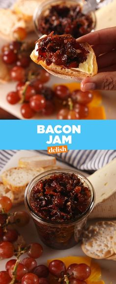 Jam WARNING: Once you start on this Bacon Jam, there's no going back. Get the recipe from .WARNING: Once you start on this Bacon Jam, there's no going back. Get the recipe from . Jam Recipes, Cooking Recipes, Cooking Bacon, Bacon Recipes, Bacon Meals, Sunday Recipes, Jelly Recipes, Drink Recipes, Dessert Recipes