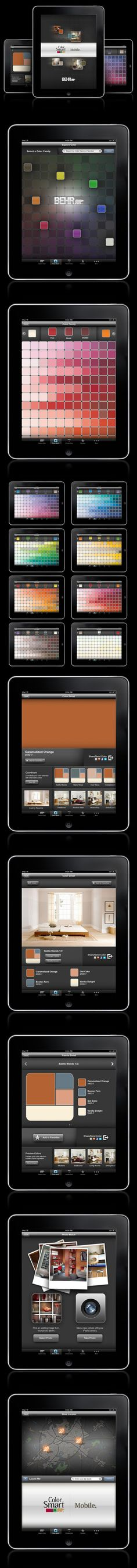 BEHR ColorSmart iPad App - Get inspired! ColorSmart by BEHR™ is now available for your iPhone® and iPad®. Designed with all of the same great features found in our online version, ColorSmart by BEHR™ Mobile is an easy and convenient way to find, coordinate or preview a BEHR® paint color for all of your paint projects.