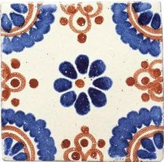 Mexican Tile. I put this on the walls in my last place. Beautiful!