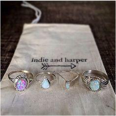 indie + harper rings