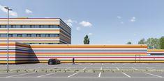 Architektur: Meininger Hotel BER Businesspark. Fotografiert von Christopher Domakis. https://expose-photo.de/christopher-domakis/architektur/