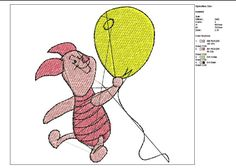 Winnie Pooh: Piggy--machine embroidery--instant download by tagi74 on Etsy