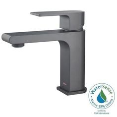 stufurhome Monty Single Hole 1-Handle 1.2 GPM CALGreen Bathroom Faucet in Matte Black-ST5001MB - The Home Depot