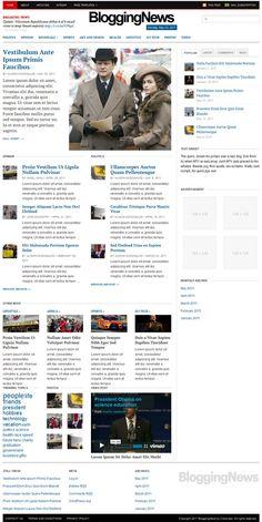 Template 47781 - News Portal Responsive WordPress Theme ...