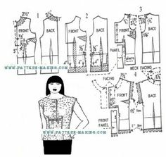 Drafting an overblouse