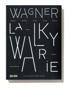 "Philippe Apeloig - ""La walkyrie de Wagner"" collection Pierre Berger"