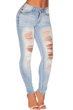 Material: 96% Cotton + 4% Elastane Size: (US 8-10)M Style: casual summer solid button, hole Best if washed by hand in 30-degree water, hang to dry in shade, prohibit bleaching. Skinny jeans are well r