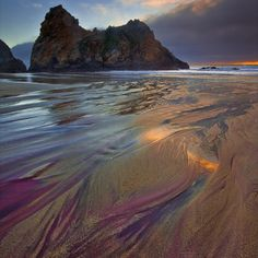 Purple sand at Pfeiffer Beach, Big Sur CA    Beautiful...