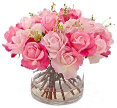 Pink Flowers in Arrangements