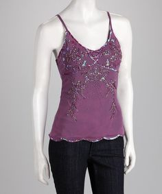 Take a look at this Plum Beaded Tank by Tokyo Collection on #zulily today! $9.99 !!